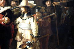 Rembrandt, The Night Watch, detail blowing out the pan