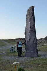 018-20150221_Vale Glamorgan-Heritage Trail Section 4-Rhoose Point-stone pillar from N Wales-Julia Kaye (Nick Kaye) Tags: family southwales wales landscape coast julia glamorgan valeglamorgan
