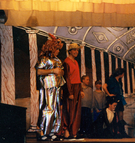 1994 Dick Whittington 54 (from left Ross Crowe, Roy Ritchie, x, x, Kathy Allan, x)