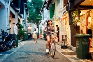 Haji Lane Bicycle Girl
