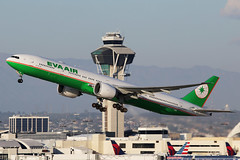 Eva Air Boeing 777-35E/ER B-16719 (Mark Harris photography) Tags: california canon aircraft planes boeing lax 777 spotting 77w