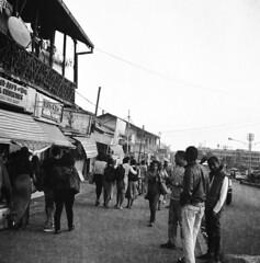 Addis Abeba street (Felipe Cárdenas-Támara) Tags: rolleiflexautomat6x6modelk4a rolleiflexjune1951march1954 rolleiflextlr rolleiflex ilfordpanf50plus zeissjenatessar3575 felipecárdenastámara ethiopia etiopía addisabeba felipecardenasphotography