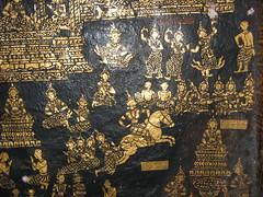 Black Gold Paneling Wat Xieng Thong