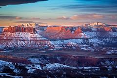 The heart of Canyonlands (Bill Bowman) Tags: sunrise utah canyonlandsnationalpark themaze orangecliffs henrymountains murphypoint elateritebutte