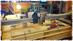 Stiffening the X-Axis on my Shapeoko (Kiet Callies) Tags: cncrouter shapeoko makercave 2015calliesphotos