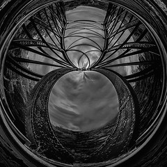 Abstract Architectural Series (Robert_K_Shiels) Tags: blackandwhite usa abstract art architecture photomanipulation manchester photography fineart newhampshire nh symmetry architectural fisheye portfolio bnw digitalphotography fineartphotography fisheyelens blackandwhitephotography architecturalphotography 03102 photographicarts canon5ds radialdesign canonef1124mmf4l robshiels