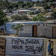 Papa Sawa, Hair Salon (gaengler) Tags: hairsalon katatura windhoek namibia papasawa wellblech kontraste township