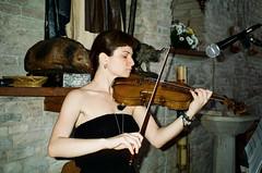 (Marco Antonecchia) Tags: portrait musician music film analog contax fujifilm violinist t2 contaxt2 violino fujicolor girlportrait