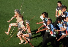Indigenous Youth (mikecogh) Tags: youth spears traditional ceremony aboriginal afl adelaideoval indigenousround
