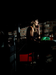 (Stevenchen912) Tags: streetphoto streetcandid streetscene streetportrait streetfavorites composition contrast shadow geometry geo women urbanlife urbanstreet compo color shop portrait