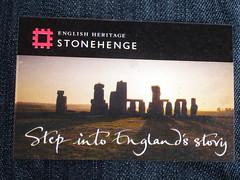 Eintrittskarte in die Steinzeit (Swassermatrose) Tags: 2016 stonehenge england heritage wiltshire steinkreis weltkulturerbe eintrittskarte ticket billet kultur steinzeit englishheritage uk
