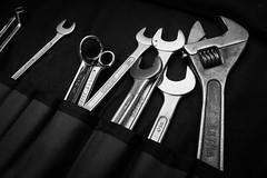 Spanners (timh255) Tags: 1855mm 52weeks blackwhite d5200 flash lightroom monochrome nikon offcamera sb700 spanner timhutchinson tool