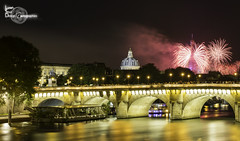 Paris Firework III (Lonely Soul Design) Tags: bridge paris tower night long exposure day fireworks picture eiffel pont neuf bastille