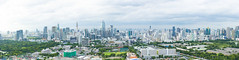 Panorama shot of downtown Bangkok, Thailand (Phakorn) Tags: bangkok krung thep maha nakhon thailand th architecture building skyscraper panorama downtown wide city landscape cityscape tower