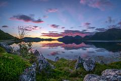 august night (John A.Hemmingsen) Tags: nordnorge night sky sunset tromsø troms kvaløya kattfjord landscape fujifilm fjord water reflection