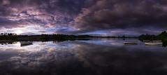Dawn on Loch Rusky (J McSporran) Tags: scotland trossachs lochrusky rusky panorama reflections mirrorimage landscape canon6d ef1635mmf4lisusm rowingboat dawn