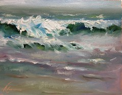 Wave study - Waddell Beach (Serendipity Artist) Tags: oilpainting waves seascape