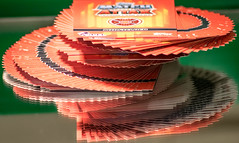 Macro Monday's cards (peterbaird100) Tags: colour macro reflections cards happy mirror explore boken chuffed cardstacking inexplore footballcards macromondayscards
