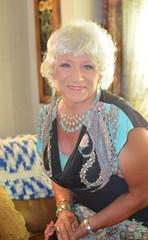 Back In Civvies (Laurette Victoria) Tags: woman silver necklace dress laurette