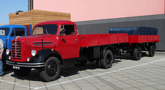 B4500 (The Rubberbandman) Tags: world auto b white classic beauty truck vintage germany outdoor transport over engine meeting goods b4500 lorry fabric cover german transportation vehicle trailer bremen freight motorshow fahrzeug flatbed lastwagen 4500 borgward lkw laster
