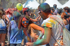 Holi Barcelona 2016 (cpcmollet) Tags: barcelona street portrait people urban colour smile face festival happy interesting nikon europe moments fiesta gente candid catalonia explore holi sonriure