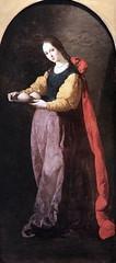 IMG_2999F Francisco de Zurbaran. 1598-1664. Sville Madrid. Sainte Agathe. vers 1640. . Montpellier Muse Fabre. (jean louis mazieres) Tags: peintres peintures painting muse museum museo france montpellier musefabre franciscodezurbaran