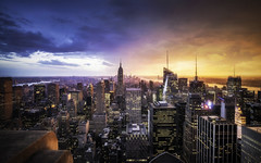 Day vs Night in New York City (Presetpro) Tags: adobelightroom adobelightroompresets aurorahdr buildings canon1635mm canon5d cityscape clouds cloudy exposurevalue glow hdr hdrphotography highdynamicrange lightroomediting lightroompresets lightroompresetspack newyorkcity nyc pastelcolors pastelcolours pastelsky photomatix photomatixpresets photoshop rain rainclouds reflections reflective rockefellercenter smallvillage sunset tim timmartin timessquare topoftherock travel travelphotography tripod tripods