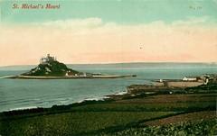 St Michael's Mount - Karrek Loos yn Koos (mgjefferies) Tags: england cornwall penzance 1911 postcard stmichaelsmount karrekloosynkoos