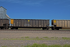 WEPX 2345 coal gondola-South Morrill, Nebraska. (Wheatking2011) Tags: wepx coal gondola wisconsin electric power four plants one plant michigan pleasant prairie sticker union pacific railroad south morrill nebraska