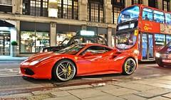 Ferrari 488 GTB (Jack de Gier) Tags: ferrari 488 gtb v8 uk london knightsbridge sloane luxury sportscar supercar exotic horsepower night red italian italy kuwait arab worldcar
