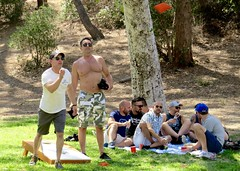 IMG_6927 (danimaniacs) Tags: party griffithpark hot sexy man guy shirtless hunk game play toss fun