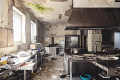 Dr. Delicious 2.0 (Johannes Burkhart) Tags: urbex abandoned place decay derelict hotel fungus germany architecture building urbanexploration mold lost schattenlicht kitchen