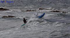 Crest of a wave. (northernkite) Tags: sea kayak siton surf swell waves hopeman scotland moray firth