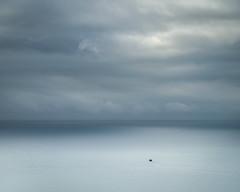 Farewell (jellyfire) Tags: landscape landscapephotography sea sony sonya7r sonyfe70200mmf40goss blue boat fishingboat freshwatereast leeacaster ocean pembrokeshire sky trawler unitedkingdom wales wwwleeacastercom