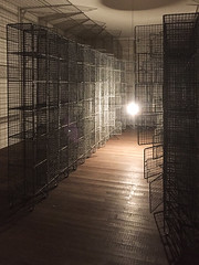 Light Sentence 1992, Mona Hatoum (jonnydredge) Tags: mona hatoum art installations conceptual political