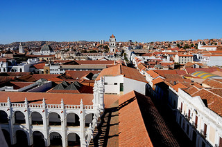 View towards the Cathedral from Convento de San Felipe Neri, Sucre / Bolivia