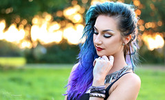 Selfportrait (Paula Darwinkel) Tags: people glamour fashion portrait photography color blue hairstyle bokeh outdoor