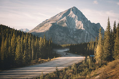 Off-road in Canada. (Bokehm0n) Tags: landscape nature vsco explore flickr earth travel folk 500px canada vscofilm snow wood mountain outdoors scenic water conifer tree winter lake sky evergreen daylight fall dawn