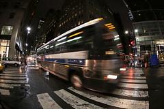 Bus pass (@harryshuldman) Tags: madison avenue bus pass midtown canon eos 7d mark ii fisheye street rain night city manhattan nyc