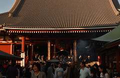 Through the Crowd and Smoke (Oliver MK) Tags: sensji taito asakusa  tokyo japan asia   temple buddhist buddhism through crowd smoke kimono outdoor amateur nikon d5500 travel people movement