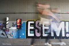 Metro station (Eleanna Kounoupa) Tags:   greece athens metrostation street people    panning  graffiti