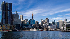 Outside view (livestoriz) Tags: olympus omdem5 zuiko 17mm18 sydney harbour darlingharbour city landscape morning beautifullight sky clouds tower boats barangaroo