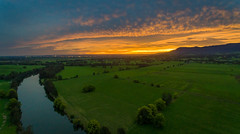 Broughton Creek (Andy Hutchinson) Tags: drone sunset broughtoncreek australia shoalhaven phantom4 aerial nsw dji berry newsouthwales au