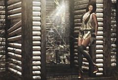 Finding my way  ( #EMPIRE LUXE BOX BLOGGER SEARCH - Spunknbrains ) (Alexa M.) Tags: envogue biteclaw genre {reverie} fameshed empire chapterfour kalopsia salem drd wereclosed botanical alirium deeposed secondlife church outdoors people girl female woman boots