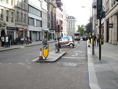 Even in Europe, Sart Cars look a bit silly (mrlaugh) Tags: smartcar england contraflow travel transportation london crosswalk bikelane 2016 europe oxfordstreet vacation unitedkingdom gb