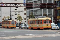 Iyotetsu 52 [Matsuyama tram] (Howard_Pulling) Tags: matsuyama japan april 2014 japanese howardpulling