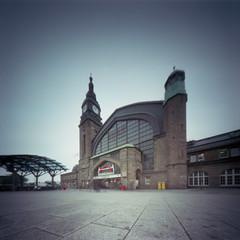 Pinhole - Hamburg - 008 (callencoss) Tags: pinhole realitysosubtle 6x6 kodakektar100 hamburg germany lochkamera deutschland longexposure trainstation hauptbahnhof