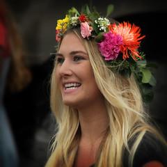 Flower Power (arbyreed) Tags: arbyreed girl woman womanwithflowersinherhair cute pretty prettywoman candidportrait squareformat orem utahcountyutah