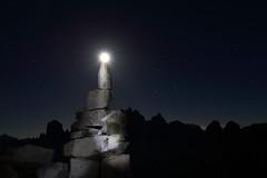 A luna di candela (Robyn Hooz) Tags: luna candela ometto pietra stones stelle stars night notturno dark buio romance tre cime lavaredo estate