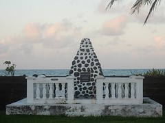 Monument to Germans (mikecogh) Tags: apia samoa monument germans leopardskin painted coast